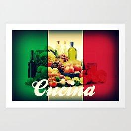 Cucina Italian Flag Art Print