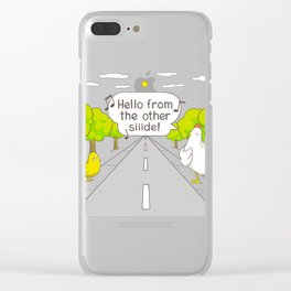 Why did the chicken c Clear iPhone Case