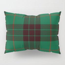Dark Green Tartan with Black and Red Stripes Pillow Sham