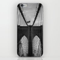 brooklyn bridge iPhone & iPod Skins featuring Brooklyn Bridge by Nicklas Gustafsson