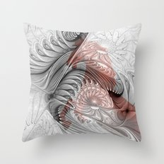 behind the fractal -b- Throw Pillow