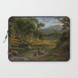 Warrenheip Hills near Ballarat by Eu von Guerard Date 1854  Romanticism  Landscape Laptop Sleeve