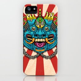 Justice Barong Mask iPhone Case