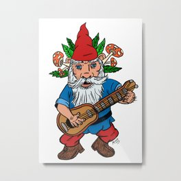 Ned The Gnome Metal Print