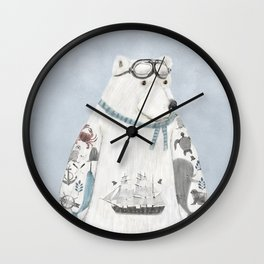 the arctic explorer Wall Clock