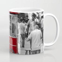 Istanbul street photography - Istiklal Caddesi and delicious Simit bread Coffee Mug