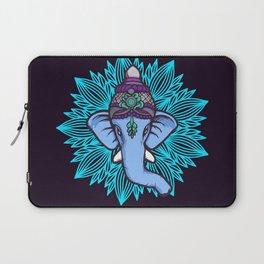 Wise Elephant Ganesha Mandala Laptop Sleeve
