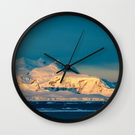 sunset over the Antarctic Wall Clock