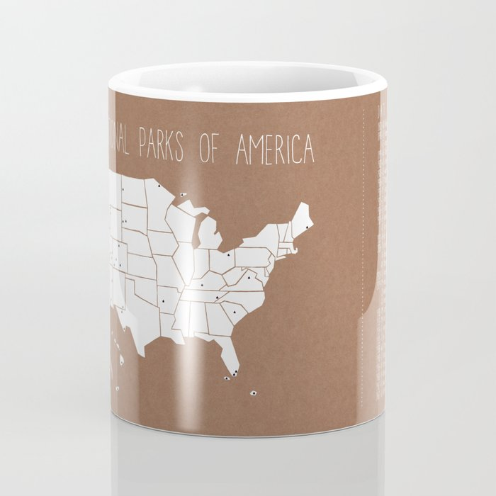 The Hand-Painted National Parks of America Coffee Mug