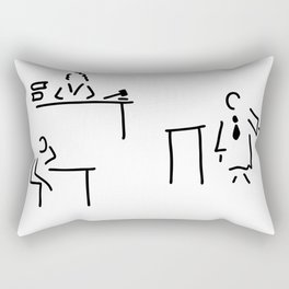 lawyer judge public prosecutor court Rectangular Pillow