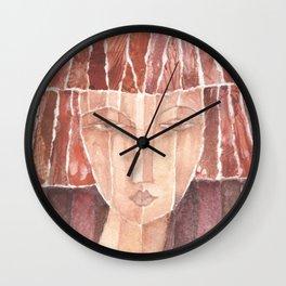 Red N° 4 Wall Clock