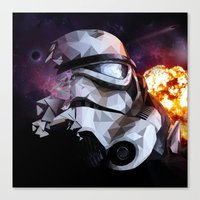 stormtrooper Canvas Prints featuring Stormtrooper by Ruveyda & Emre