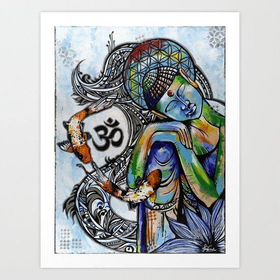 Thinking budah  Art Print