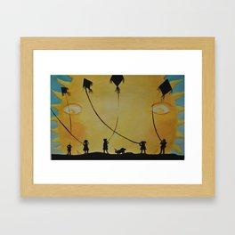 Papalotes (kites) Framed Art Print