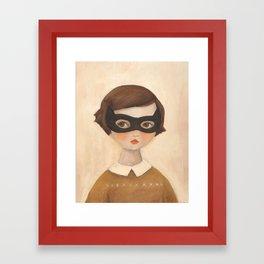 Kitten Bandit Framed Art Print