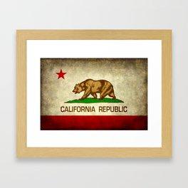 California Republic Retro Flag Framed Art Print