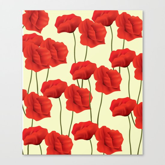 Red flowers #society6 Canvas Print