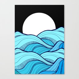 Lines in the waves Canvas Print