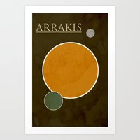 arrakis Art Prints featuring Arrakis by Nicholas Hyde