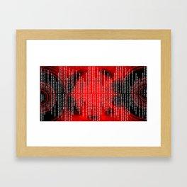 Binary Code Framed Art Print