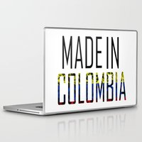 colombia Laptop & iPad Skins featuring Made In Colombia by VirgoSpice