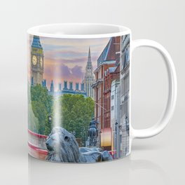 A Lion of Trafalgar Square and the Big Ben - London Coffee Mug