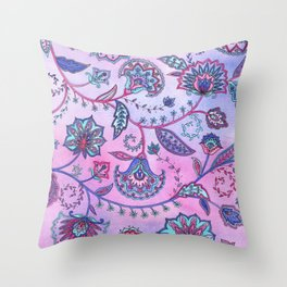 Persian Flowers Throw Pillow