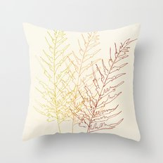 Red Ferns Throw Pillow