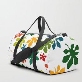 Colorful Fig Tree Leaves Duffle Bag