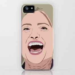 Hillary Face iPhone Case
