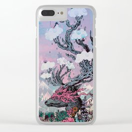 Journeying Spirit (deer) sunset Clear iPhone Case