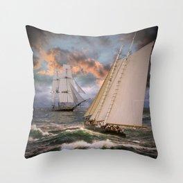 SAILING THE SEA Throw Pillow
