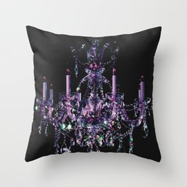 Amethyst Crystal Chandelier Throw Pillow