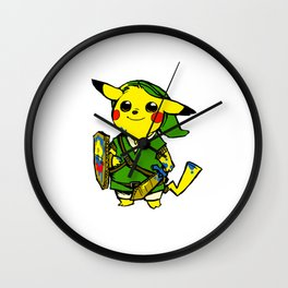 pikacu zelda Wall Clock