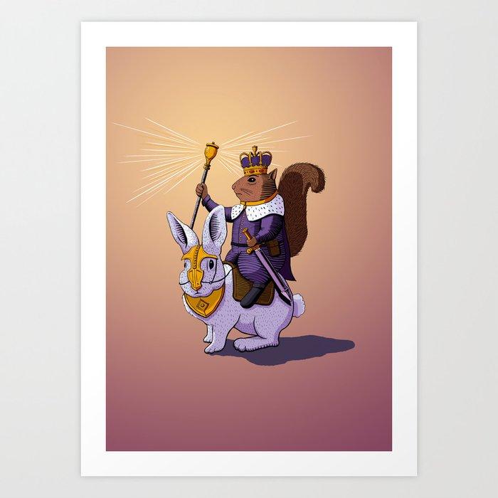 Squirrel King Art Print