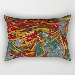 Melting Marbled Paper Rectangular Pillow
