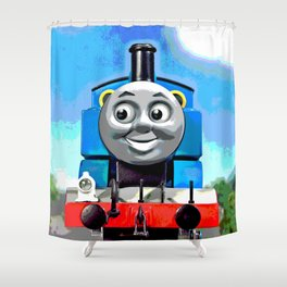 Thomas Has A Smile Shower Curtain
