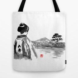 geisha's watching Tote Bag