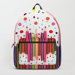 Colorful Pencils - Drawing Tools #society6 #decor #buyart Backpack