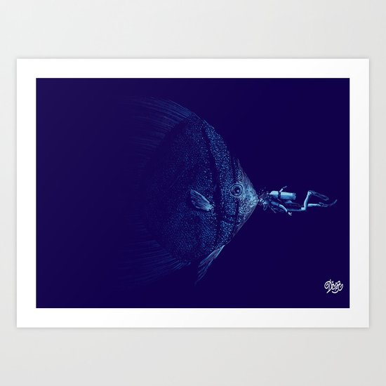 Nice 2 Sea U Art Print