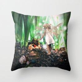 Bulb Fairy Throw Pillow