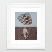 shells Framed Art Prints featuring Shells by Marjolein