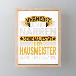 Hausmeister Design für einen  Haustechniker Framed Mini Art Print