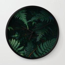 Evening Fern Wall Clock