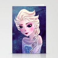 frozen elsa Stationery Cards featuring Elsa Frozen by Kaori