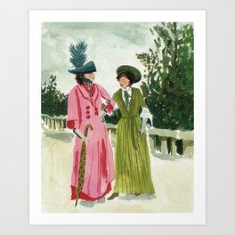 Fancy Ladies Art Print