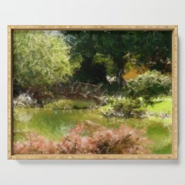 garden Watercolor Serving Tray