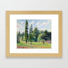 """Camille Pissarro """"Jardin de Kew, Londres, près d'un étang""""(""""Kew Garden, London, near a pond"""") Framed Art Print"""
