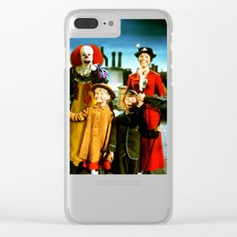 PENNYWISE IN MARY POPPINS Clear iPhone Case