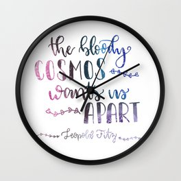 The Bloody Cosmos Wall Clock